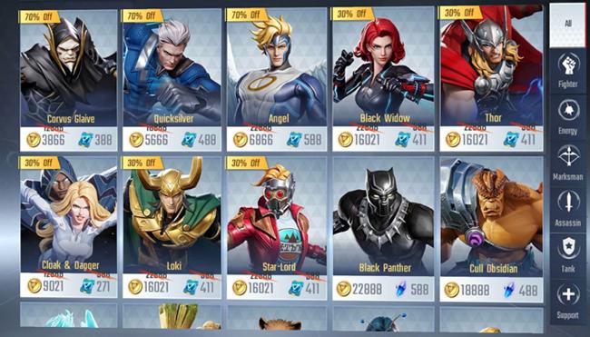 Marvel Super War bị chê trách khi số tiền bỏ ra để mua tướng quá đắt đỏ