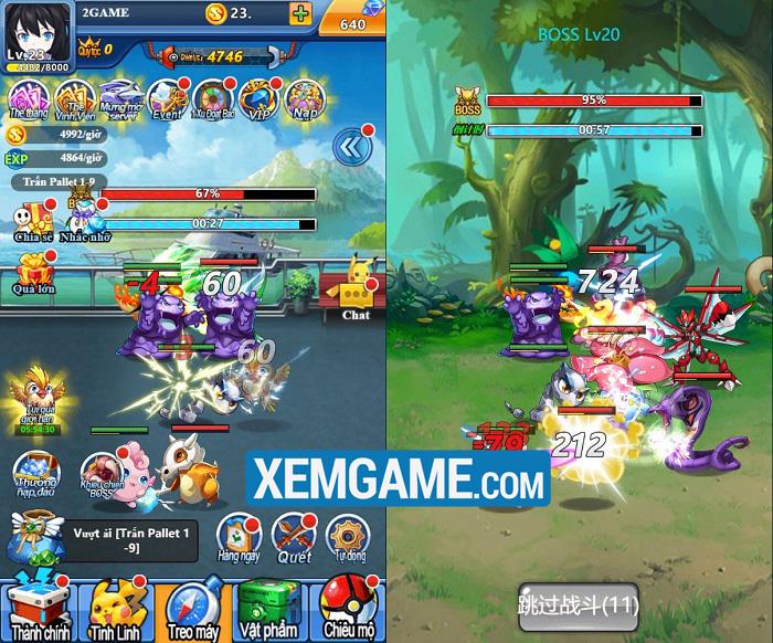 Pokemon Truyền Kỳ H5 | XEMGAME.COM