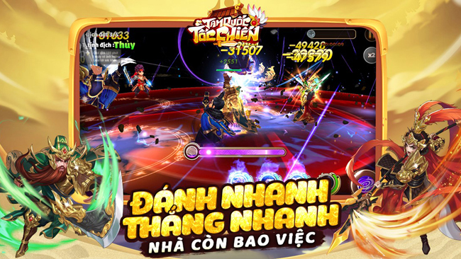 Game 3Q Tam Quốc Tốc Chiến – đánh nhanh thắng nhanh chuẩn bị về Việt Nam