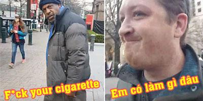 Streamer ngỡ ngàng khi bị chửi rủa vì… hút thuốc trên đường phố