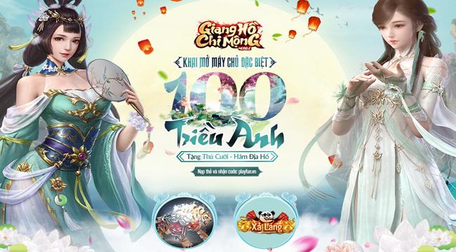 """Giang Hồ Chi Mộng ăn mừng cột mốc 100 server, khẳng định game """"đắt khách"""" hàng đầu thị trường"""