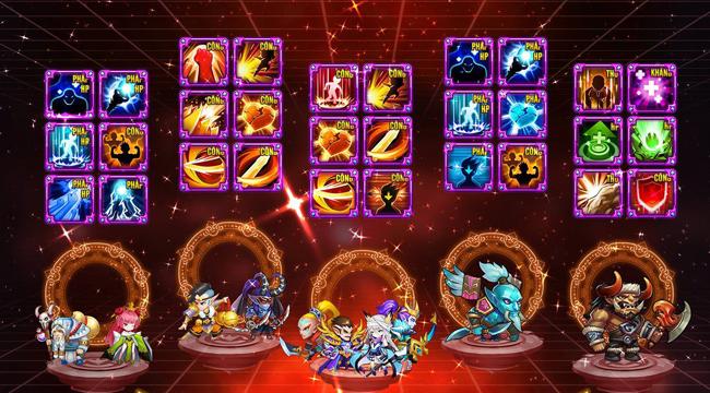 Siêu Thần Mobile có cơ chế nuôi tướng bằng skill siêu mới lạ