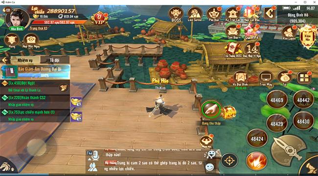 Kiếm Ca VNG đã ra mắt bản PC với hàng loạt tính năng mới đáng giá