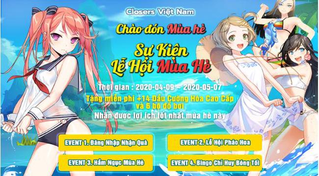 Closers Online mang đến hàng loạt event, tặng giftcode khủng trong tháng 4 cho người chơi