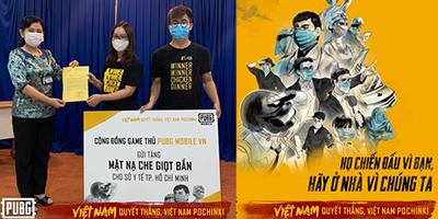 Cộng đồng PUBG Mobile VN quyên góp 10.000 mặt nạ chống giọt bắn đẩy lùi Covid-19