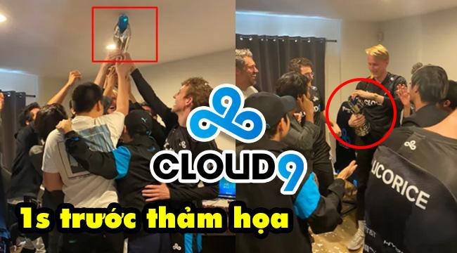 LMHT: Chơi lớn như Cloud 9 đập cúp vô địch vì ăn mừng chiến thắng