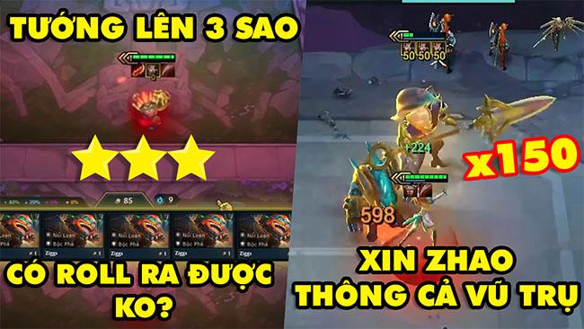 TOP khoảnh khắc điên rồ nhất Đấu Trường Chân Lý #75: Tướng 3 sao có roll ra ko, Xin Zhao max bự x150