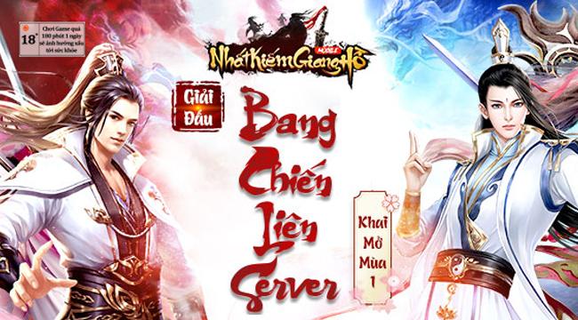 Game thủ Nhất Kiếm Giang Hồ háo hức tham gia Bang Chiến Liên Server