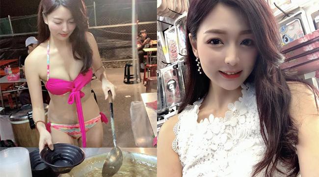 Ế ẩm vì COVID-19, hot girl chủ tiệm súp mặc bikini để câu khách