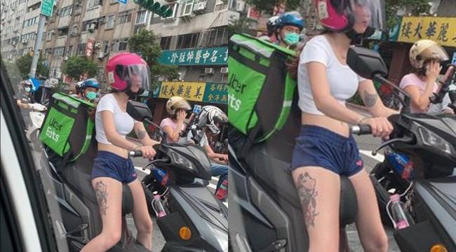 Cộng đồng mạng phát sốt với nữ shipper Uber ăn mặc đầy táo bạo