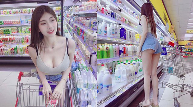 Khoe thân triệt để tại siêu thị, single mom bị chỉ trích dữ dội