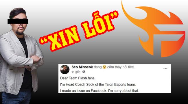 LMHT: HLV trưởng của Talon Esports chính thức lên tiếng xin lỗi Team Flash