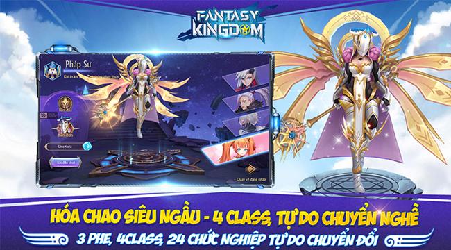 Fantasy KingDom M gây ấn tượng với 4 lớp nhân vật  cùng khả năng biến hình độc lập