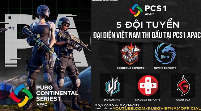 PUBG: Lộ diện 5 đại diện Việt Nam tham dự giải đấu châu Á PCS1 APAC