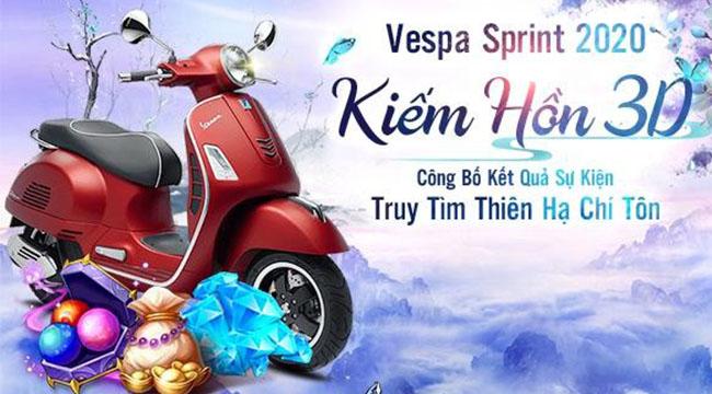 Kiếm Hồn 3D: Thiên Hạ Đệ Nhất – chủ nhân của xe Vespa Sprint lộ diện