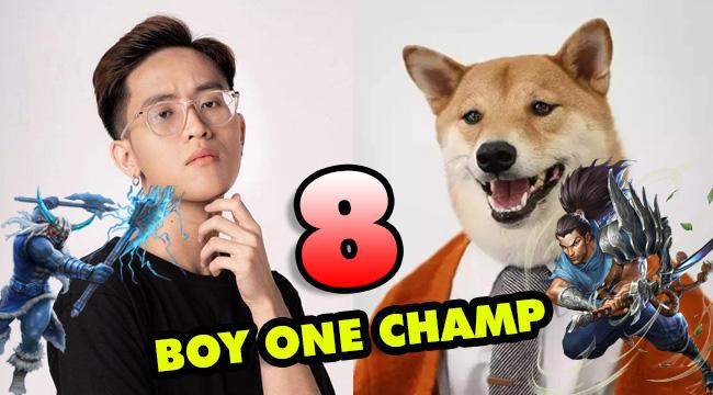 LMHT: TOP 8 Boy One Champ đình đám nhất server Việt Nam hiện nay