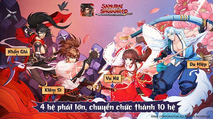 Toàn tập các hệ phái, chuyển chức nhân vật trong Samurai Shodown VNG
