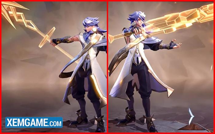 Zata sở hữu 2 vũ khí tương ứng với các trạng thái khác biệt, mang lại những lợi ích khác nhau.
