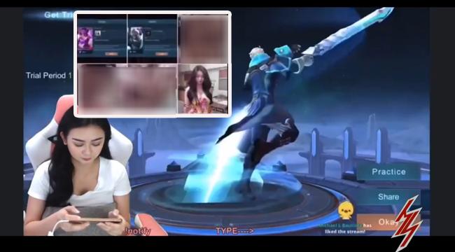 Mobile Legend: Bang Bang – Hớn hở khoe skin xịn, nữ streamer để lộ video nóng trên livestream