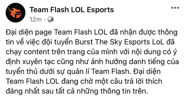 """LMHT: BTS """"mất điểm"""" trong mắt cộng đồng khi bất ngờ đào lại drama cũ của tuyển thủ Team Flash"""