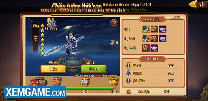 Tam Anh Thủ Thành | XEMGAME.COM