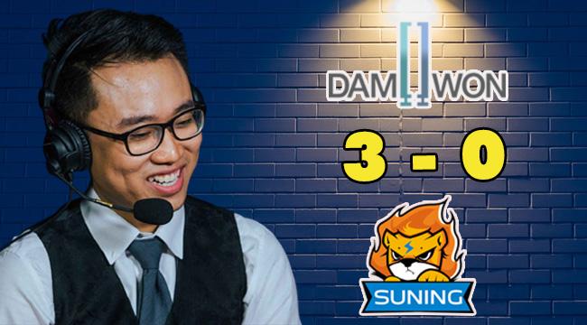 LMHT: BLV Hoàng Luân dự đoán DAMWON sẽ thắng Suning 3-0