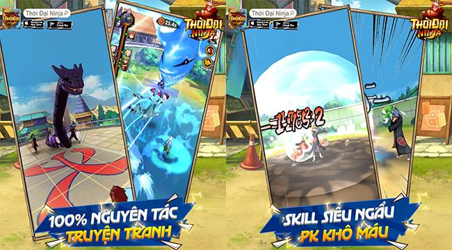 Thời Đại Ninja – Game chuẩn Naruto màn hình dọc đầy mới lạ