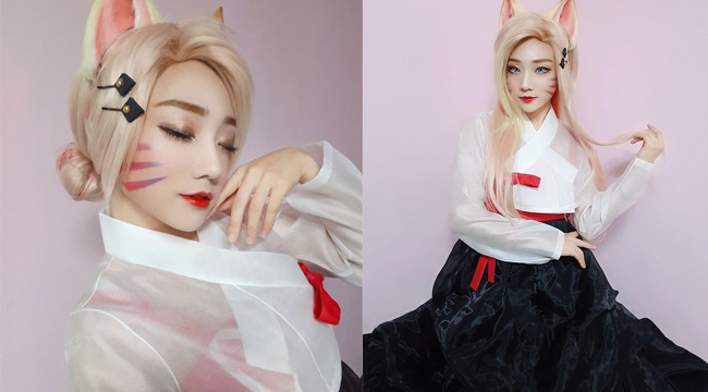 LMHT: Mê mẩn với vẻ đẹp cổ điển ngọt ngào của Ahri trong Hanbok truyền thống