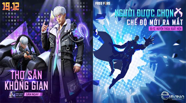 Free Fire: Hé lộ vũ trụ xoay quanh nhân vật Chrono, hàng loạt tính năng mới ra mắt