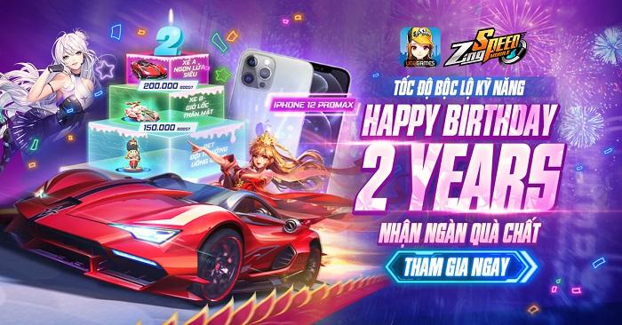 ZingSpeed Mobile bùng nổ với đại tiệc sinh nhật 2 tuổi