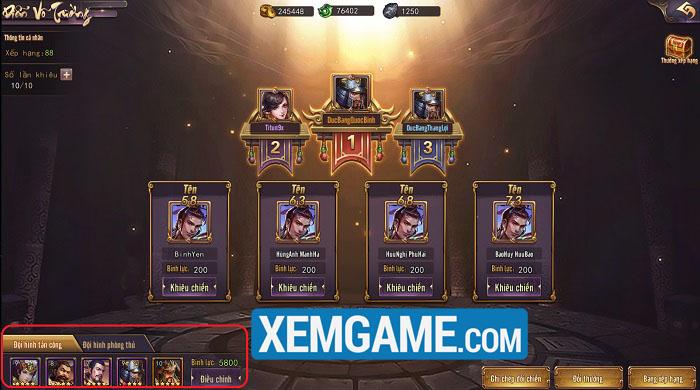 Thiên Mệnh Tam Quốc SLG | XEMGAME.COM