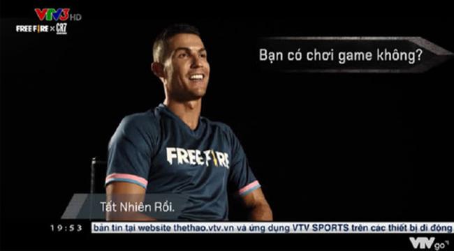 VTV đưa tin Ronaldo làm đại sứ, khen Free Fire hết lời trong video phỏng vấn