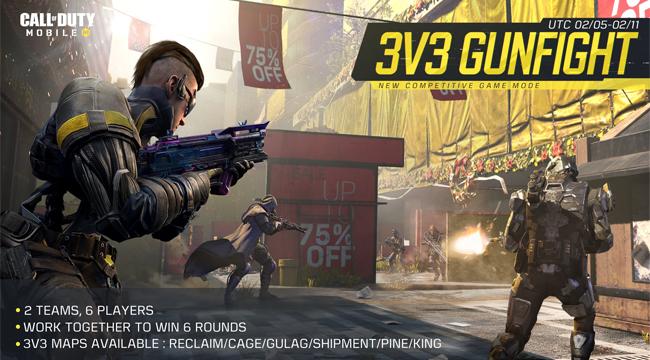 Call of Duty: Mobile – Chế độ đấu súng 3vs3 chính thức ra mắt