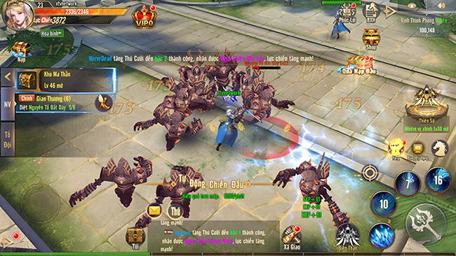 Trải nghiệm Vương Thần Mobile: Cày cấp nhanh, nhiều phụ bản để phá đảo
