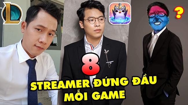 """TOP 8 Streamer Việt Nam là """"Trùm Cuối"""" ở mỗi tựa game họ chơi: Thầy Giáo Ba, Trâu TV, Dũng CT…"""
