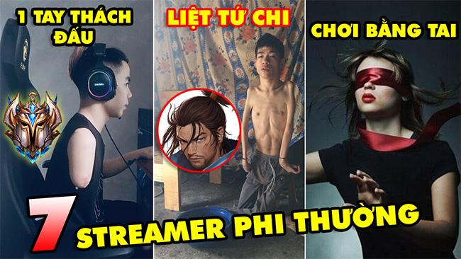TOP 7 Streamer phi thường nhất làng game Việt Nam và thế giới: 1 tay Thách Đấu, Chơi game bằng tai