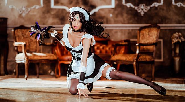 LMHT cosplay: Nidalee hoá dịu dàng đến mê hoặc trong trang phục hầu gái