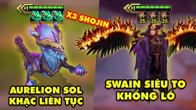 TOP khoảnh khắc điên rồ nhất Đấu Trường Chân Lý 139: Aurelion Sol X3 Shojin, Swain siêu to khổng lồ