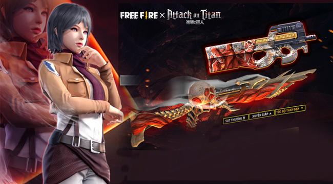 Free Fire: Sự kiện hợp tác cùng Attack on Titan mang đến loạt trang phục cực chất