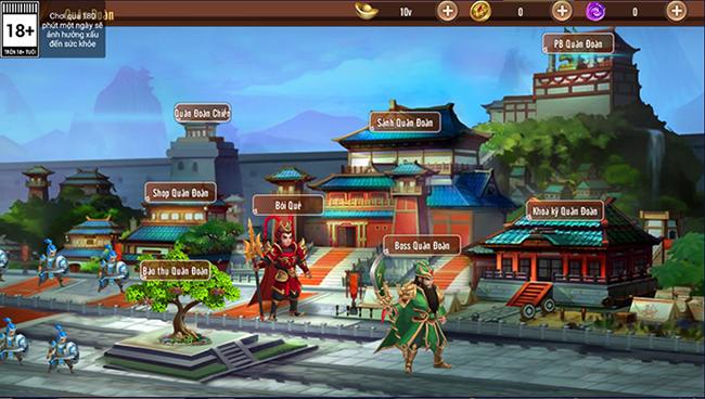 Long Tướng 3Q khuyến khích người chơi kết nghĩa vườn đào, chiến thiên hạ cùng Quân Đoàn