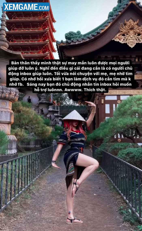Nữ tiktoker Việt đình đám bị chỉ trích vì tạo dáng phản cảm trong chùa
