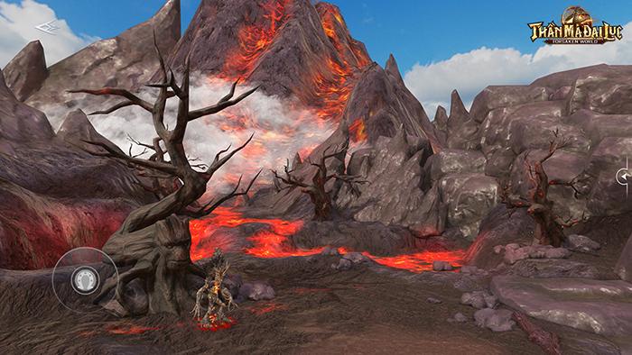 Hệ thống bản đồ đẹp hút hồn ở Forsaken World: Thần Ma Đại Lục