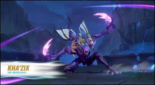 Hướng dẫn chơi Kha'Zix Tốc Chiến, kẻ săn mồi tối thượng từ hư không