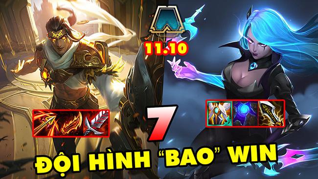 """TOP 7 đội hình cực mạnh """"Bao"""" Win để leo rank trong DTCL 11.10"""