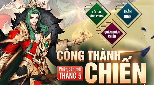 Cộng đồng Tân OMG3Q VNG sôi nổi đồng hành cùng phiên bản mới Công Thành Chiến