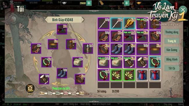 Kích Ngũ Hành trang bị, công việc tưởng khó mà dễ trong Võ Lâm Truyền Kỳ 1 Mobile