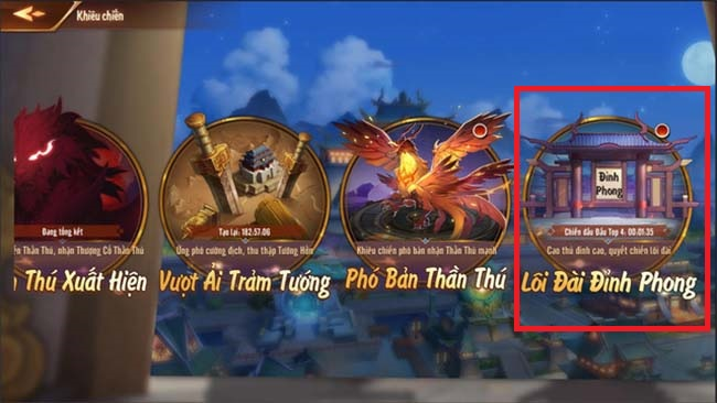 Lôi Đài Đỉnh Phong là nơi cao thủ trổ tài trong Tân OMG3Q VNG