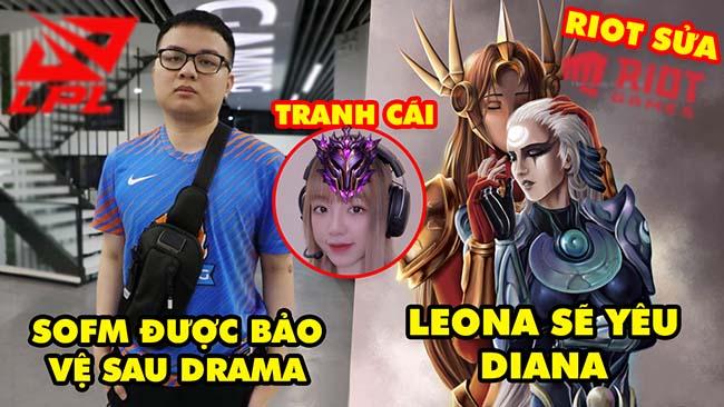 Update LMHT: SofM được bảo vệ sau drama, Diana và Leona yêu nhau, Bạn gái cũ Hà Tiêu Phu tranh cãi