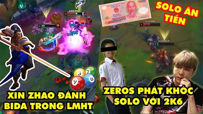 TOP khoảnh khắc điên rồ nhất LMHT 141: Xin Zhao đánh bida max hài, Zeros phát khóc solo ăn tiền 2k6