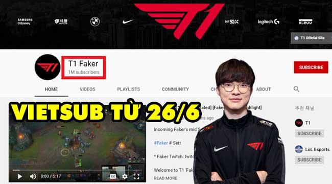 Trang chủ T1 bất ngờ đăng bài tiếng Việt, mang đến tin vui cho fan Faker